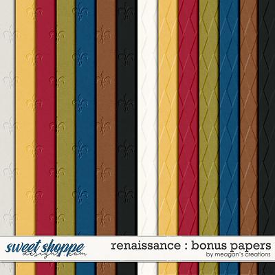 Renaissance : Bonus Papers by Meagan's Creations