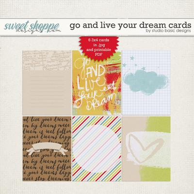 Go And Live Your Dream Cards by Studio Basic