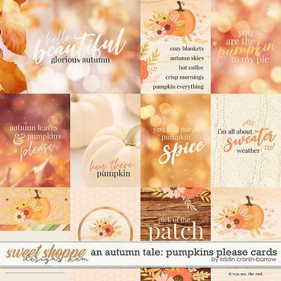 An Autumn Tale: Pumpkins Please Cards by Kristin Cronin-Barrow