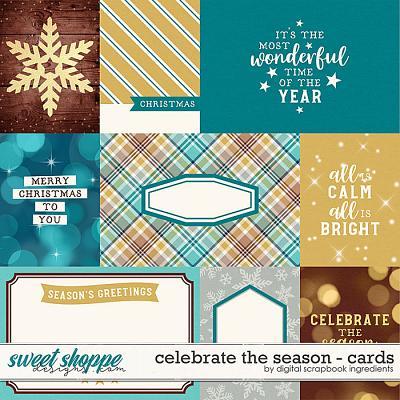 Celebrate The Season | Cards by Digital Scrapbook Ingredients