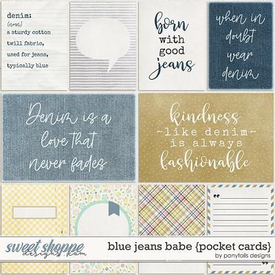 Blue Jeans Babe Pocket Cards by Ponytails