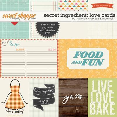 Secret Ingrediente: Love Cards by Studio Basic and Mommyish