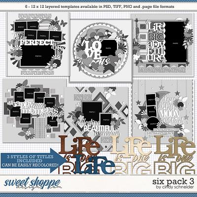 Cindy's Layered Templates - Six Pack 3 by Cindy Schneider