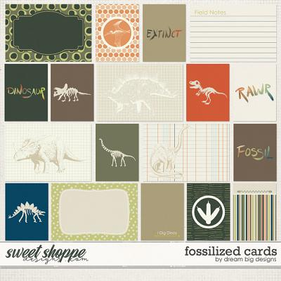 Fossilized Cards by Dream Big Designs