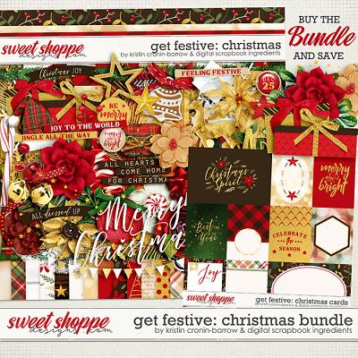 Get Festive: Christmas Bundle by Kristin Cronin-Barrow & Digital Scrapbook Ingredients