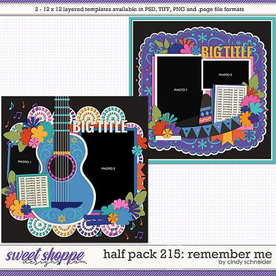 Cindy's Layered Templates - Half Pack 215: Remember Me by Cindy Schneider