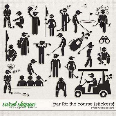 Par for the Course Stickers by Ponytails