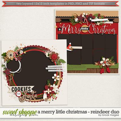 Brook's Templates - A Merry Little Christmas - Reindeer Duo by Brook Magee