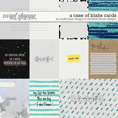 A Case Of Blahs Cards by Studio Basic and Micheline Lincoln Designs