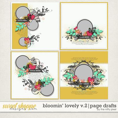 BLOOMIN LOVELY V.2 | PAGE DRAFTS by The Nifty Pixel