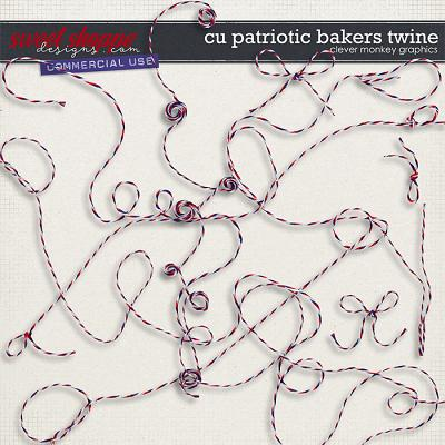 CU Patriotic Baker's Twine by Clever Monkey Graphics