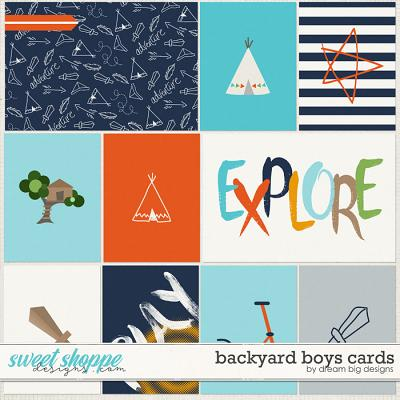 Backyard Boys Cards by Dream Big Designs