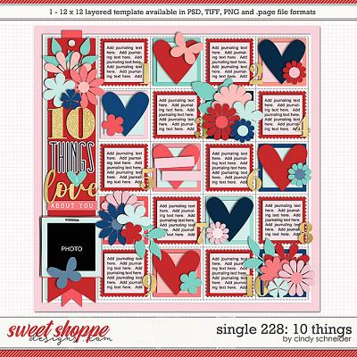 Cindy's Layered Templates - Single 228: 10 Things by Cindy Schneider