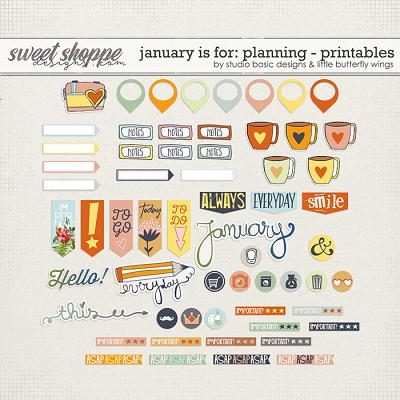 January Is For: Planning Printables by Studio Basic and Little Butterfly