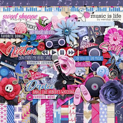 Music is life  by WendyP Designs