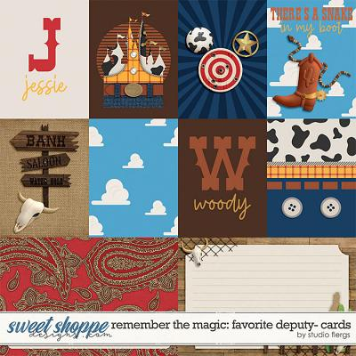 Remember the Magic: FAVORITE DEPUTY- CARDS by Studio Flergs