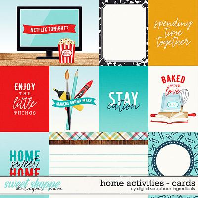 Home Activities | Cards by Digital Scrapbook Ingredients