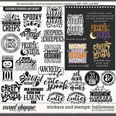 Cindy's Layered Stickers and Stamps: Halloween by Cindy Schneider