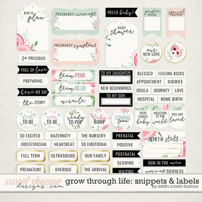 Grow through Life: Snippets and Labels by Kristin Cronin-Barrow