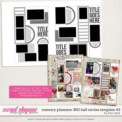 Memory Planners - Big - Half Circles #3 by Traci Reed