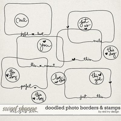 Doodled Photo Borders & Stamps by Red Ivy Design