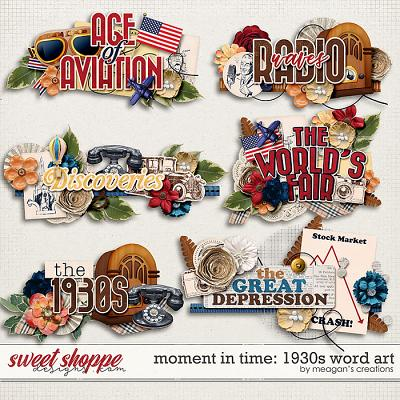 Moment in Time: 1930s Word Art by Meagan's Creations