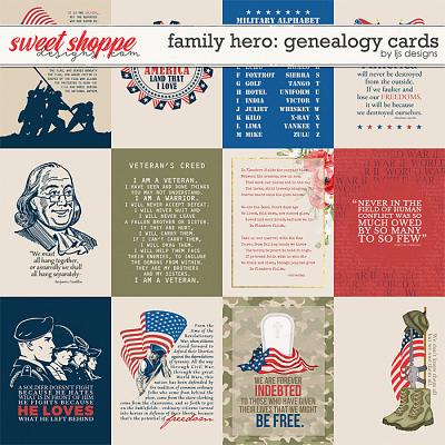 Family Hero: Genealogy Cards by LJS Designs