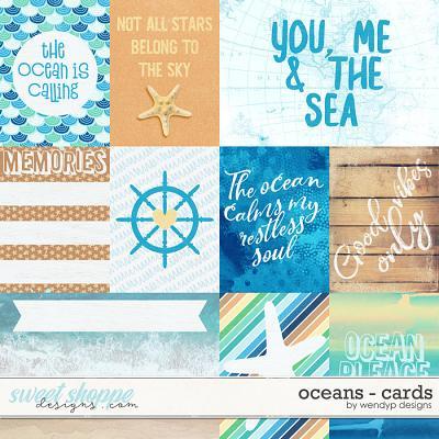 Oceans - cards by WendyP Designs