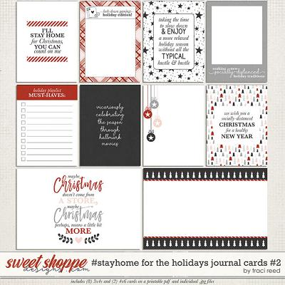 #StayHome for the Holidays: Journal Cards #2 by Traci Reed