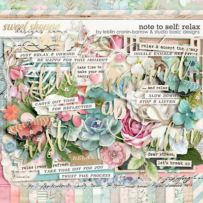 Note To Self: Relax Kit by Kristin Cronin-Barrow & Studio Basic