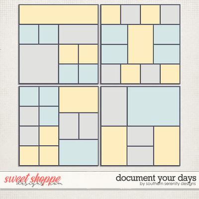 Document Your Days Layered Templates by Southern Serenity Designs