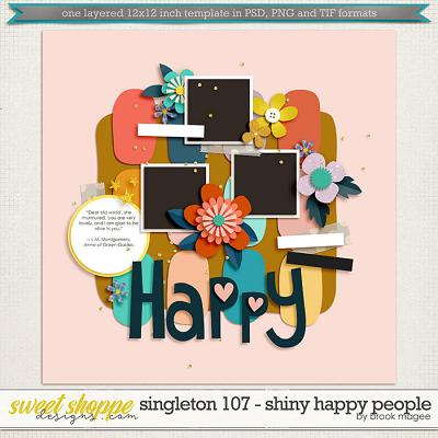 Brook's Templates - Singleton 107 - Shiny Happy People