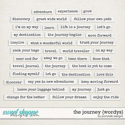 The Journey Wordys by Ponytails