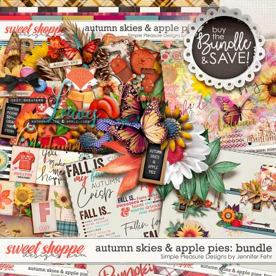 autumn skies & apple pies bundle: simple pleasure designs by jennifer fehr