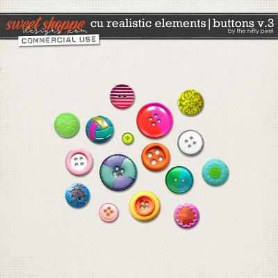 CU REALISTIC ELEMENTS | BUTTONS V.3 by The Nifty Pixel