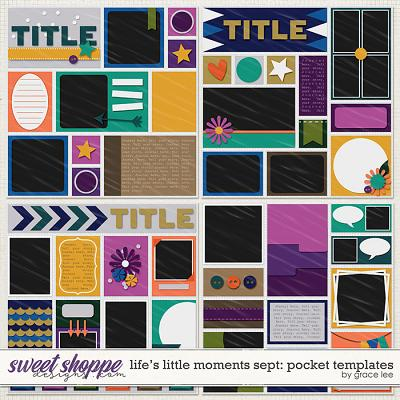 Life's Little Moments September: Pocket Templates by Grace Lee