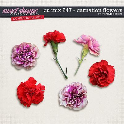 CU mix 247 - carnation flowers by WendyP Designs