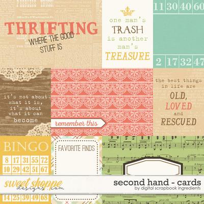 Second Hand | Journal Cards by Digital Scrapbook Ingredients