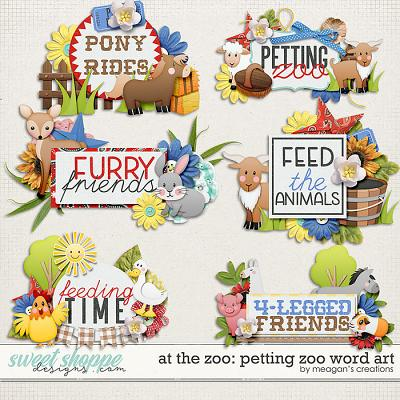 At the Zoo: Petting Zoo Word Art by Meagan's Creations