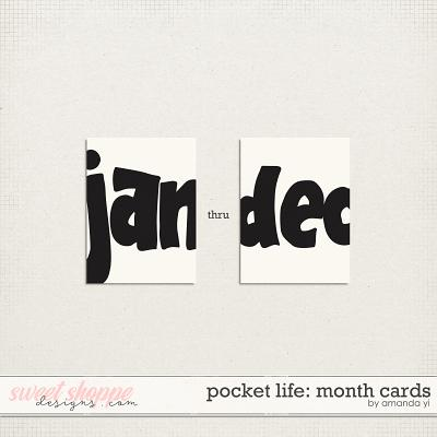 Pocket Life: Month Cards by Amanda Yi