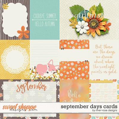September Days Cards by River Rose Designs