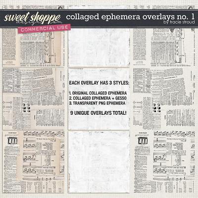 CU Collaged Ephemera Overlays no. 1 by Tracie Stroud