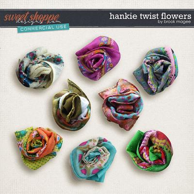 Hankie Twist Flowers - CU - by Brook Magee