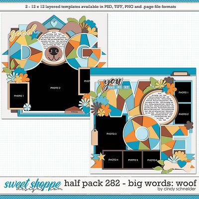 Cindy's Layered Templates - Half Pack 282: Big Words - Woof by Cindy Schneider