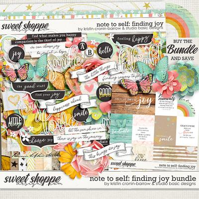 Note To Self: Finding Joy Bundle by Kristin Cronin-Barrow & Studio Basic