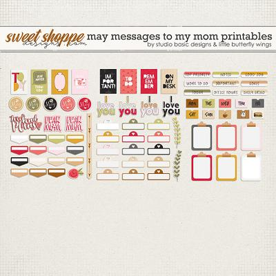 May Messages To My Mom Printables by Studio Basic and Little Butterfly Wings