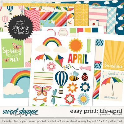 Easy Print: Life-April by Melissa Bennett