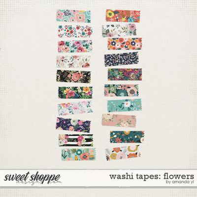 Washi Tapes: Flowers by Amanda Yi