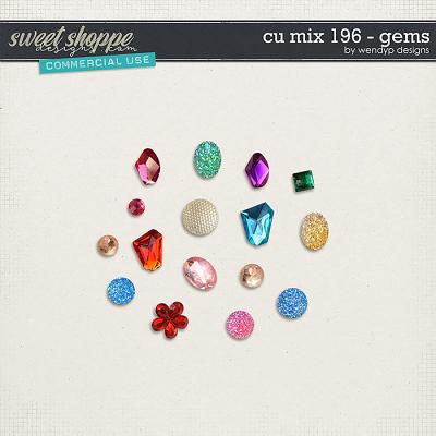 CU Mix 196 - gem stones by WendyP Designs