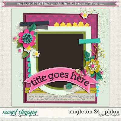 Brook's Templates - Singleton 34 - Phlox by Brook Magee